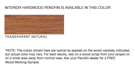 Penofin Interior Wood Stain Colors